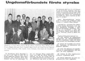 Ungdomsförbundets första styrelse