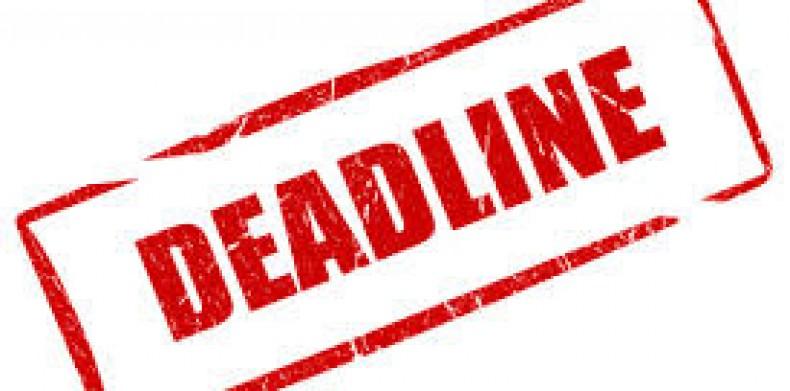 Deadlinen förlängs!