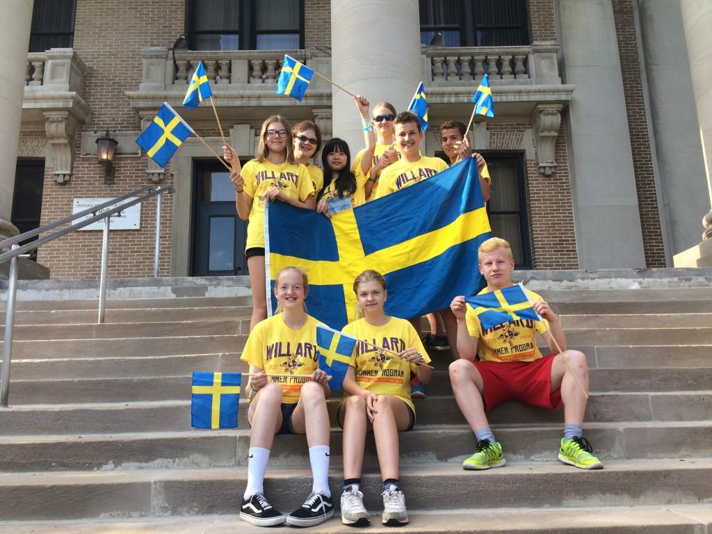 Språkresa USA, svenskar